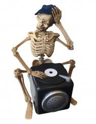 Décoration articulée et sonore DJ squelette 25 cm