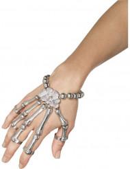 Bracelet et bagues squelette adulte Halloween