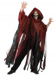 Cape rouge et noire adulte Halloween