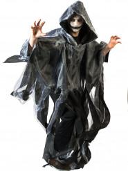 Cape blanche et noire adulte Halloween