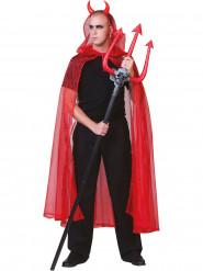 Cape rouge transparente adulte Halloween