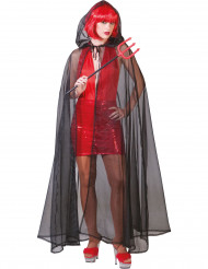 Cape noire transparente adulte