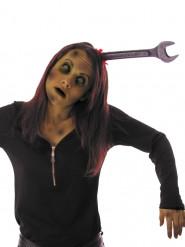 Serre-tête clé plate ensanglantée adulte Halloween