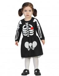 Déguisement bébé squelette fille Halloween