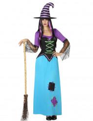 Déguisement sorcière rapiécée Halloween