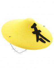 Chapeau chinois jaune adulte