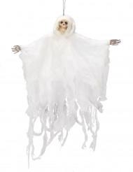 Décoration à suspendre squelette blanc 50 cm Halloween