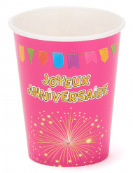 6 gobelets carton anniversaire Fiesta 27 cl