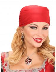 Collier pierre précieuse rouge pirate femme