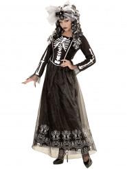 Déguisement squelette à jupon long femme Halloween