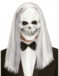 Masque squelette avec perruque adulte