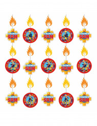 6 Décorations sur fil à suspendre Sam le Pompier™