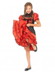 Déguisement cabaret rouge et noir fille
