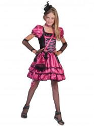 Déguisement cabaret rose et noir fille