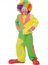 Déguisement clown à pois garçon