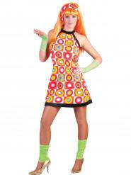 Déguisement rétro orange femme
