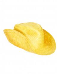 Chapeau de paille Western jaune adulte
