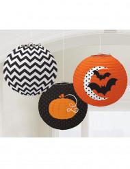 3 Lanternesà motifs Halloween 24 cm