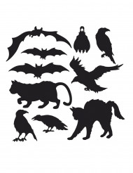 10 Décorations en carton silhouettes