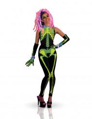 Déguisement Squelette techno girl femme