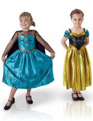 Pack 2 déguisements classiques fille Elsa & Anna Couronnement™