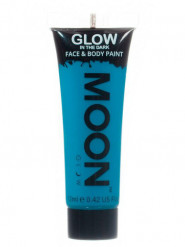 Gel visage et corps bleu phosphorescent 12 ml Moonglow ©