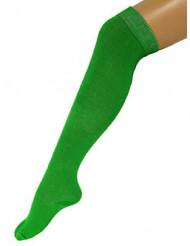 Chaussettes longues vertes 53 cm adulte