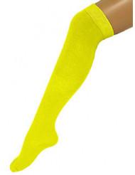 Chaussettes longues jaunes 53 cm adulte