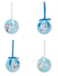 4 Boules de Noël Olaf La Reine des Neiges™ 7,5 cm