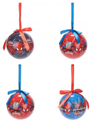 4 Boules Spiderman™ 7,5 cm Noël