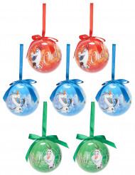 7 Boules de Noël Olaf La Reine des Neiges™ 7,5 cm