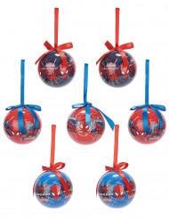 7 Boules Spiderman™ 7,5 cm Noël