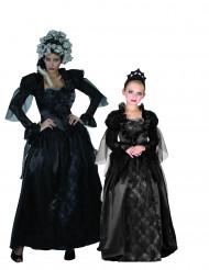 Déguisement de couple comtesse gothique mère et fille Halloween
