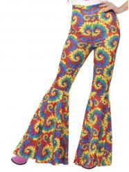 Pantalon hippie multicolore femme