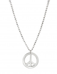 Collier hippie argent adulte