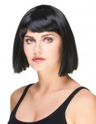 Perruque carré noire à frange femme