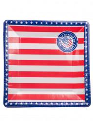 8 Assiettes USA en carton