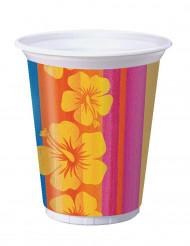 8 Gobelets en plastique Hawaï - 473 ml