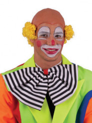 Perruque chauve clown jaune adulte