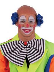 Perruque chauve clown bleue adulte