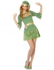 Déguisement elfe vert femme Noël
