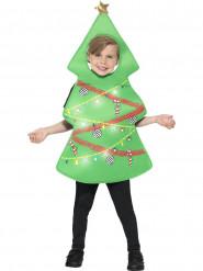 Déguisement sapin avec tabard lumineux enfant Noël