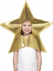 Coiffe étoile dorée enfant Noël