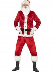 Déguisement Père Noël avec gros ventre et puce sonore adulte