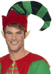 Chapeau elfe avec grelots adulte Noël