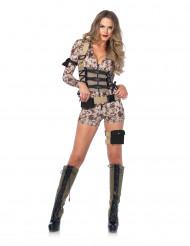 Déguisement sexy militaire pixel femme