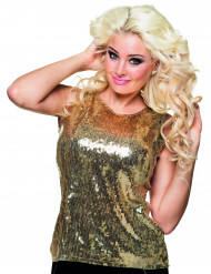 Top à sequins or femme