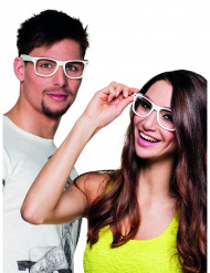 4 Lunettes blanches adulte