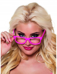 4 Lunettes rose fluo adulte