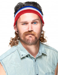 Bandeau Mulet Bleu blanc et rouge avec moustache